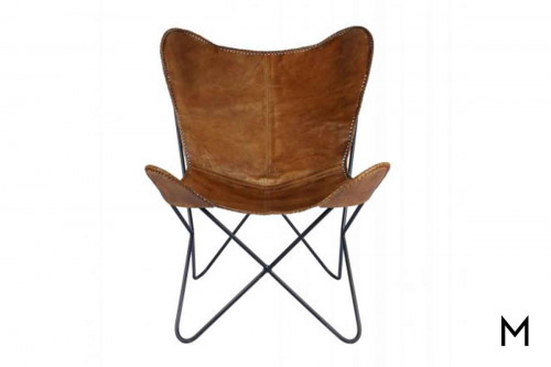 Tackshop Butterfly Leather Chair