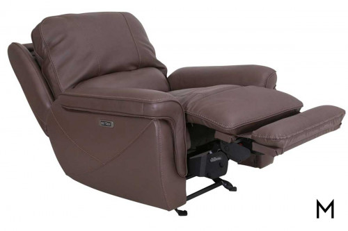M Collection Montecarlo Power Headrest Recliner in Mushroom