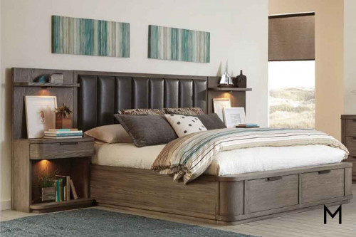 Precision King Bed Set in Umber