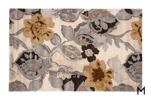 Large-Scale Bloom Area Rug 5'x8'