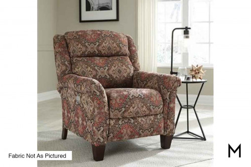 M Collection Pow Wow Hi-Leg Recliner with Power Headrest
