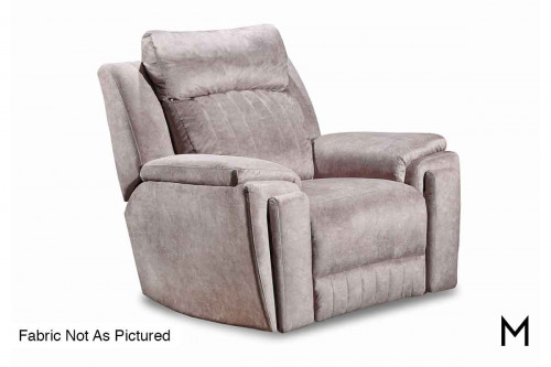 M Collection Silver Screen Wallhugger Recliner Massage & Heat Therapy, Lumbar Support, Cupholders & Power Headrest