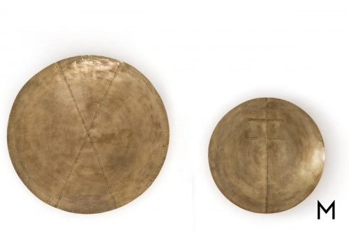 Liva Wall Decor in Polished Brass