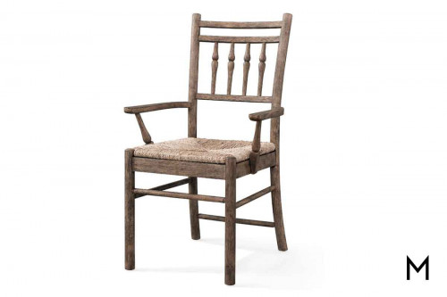 Riverbank Arm Dining Chair in Weathered Gray Oak