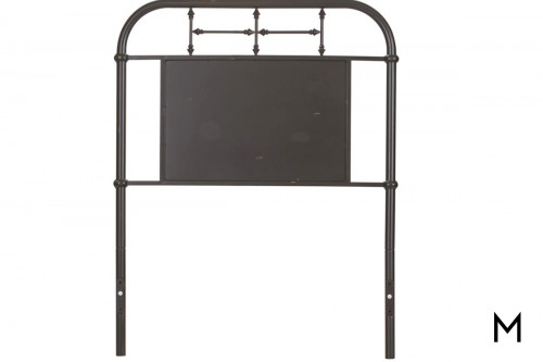 Vintage Metal Headboard - Twin in Black