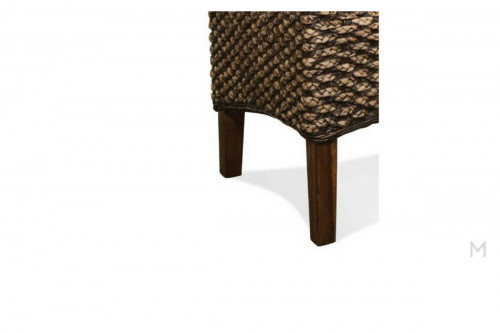 Woven Timber Arm Chair with cushioned seat