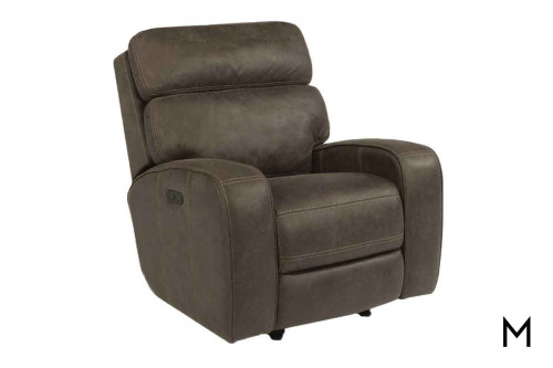 Tomkins Power Gliding Recliner with Power Headrest and Footrest
