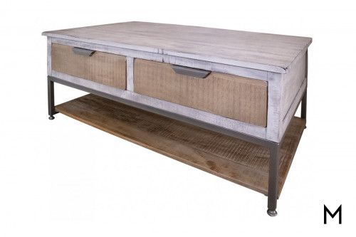 Rustic 4-Drawer Cocktail Table