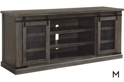 Danell Ridge Extra Large TV Stand with Sliding Barn Doors