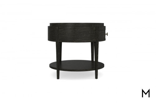 Round End Table with Removable Tray