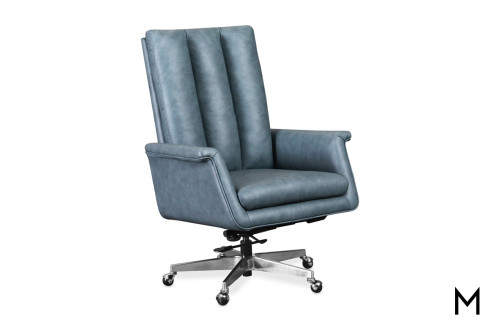 Executive Swivel Tilt Desk Chair with Metal Base