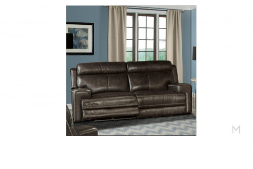 M Collection Glacier Reclining Sofa with Dual Power Recliner & USB