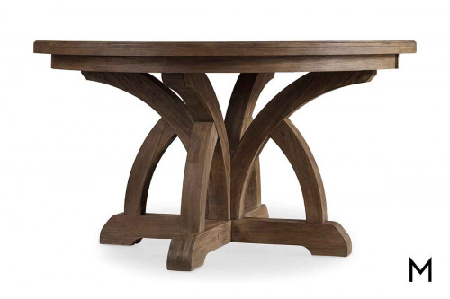 """Mediterranean Dining Table with 1 - 18"""" Leaf"""