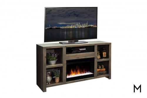 "Joshua Creek 63"" TV Console with Fireplace"