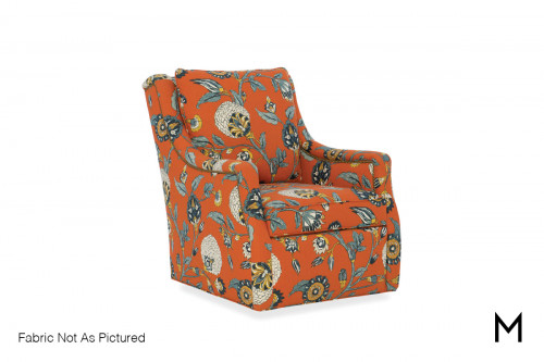 Kale Swivel Chair in Gray Tweed