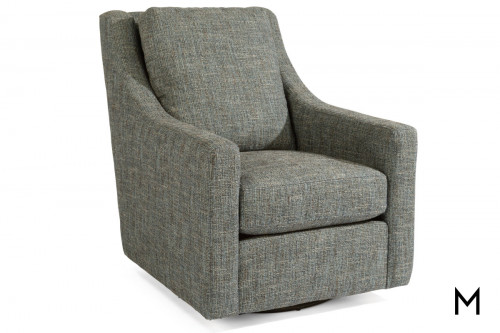 Murph Swivel Chair with Loose-Pillow Back