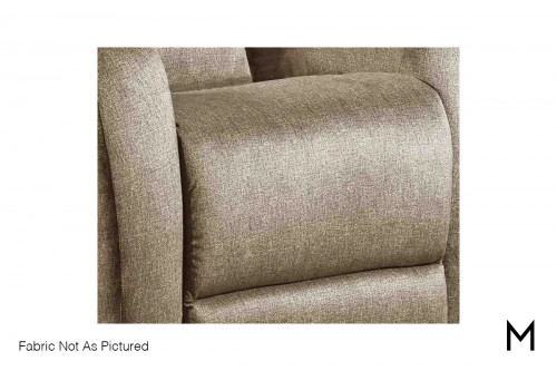 M Collection View Point Recliner in Cyber Space Driftwood