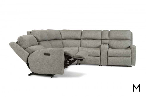 Catalina 6 Piece Power Reclining Sectional with Power Headrest and Power Recline