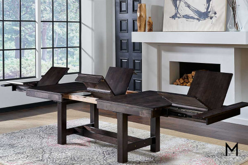 Mariposa 5 Piece Dining Set in Warm Gray