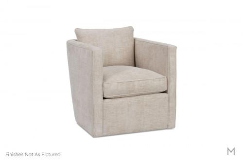 Rothko Swivel Chair in Grey Chevron