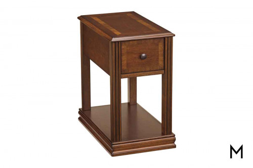 Breegin Chairside Table in Rich Brown