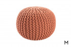 Floor Pouf in Aragon Orange Color Thumbnail Orange