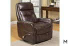 M Collection Contemporary Swivel Recliner Color Thumbnail Brown