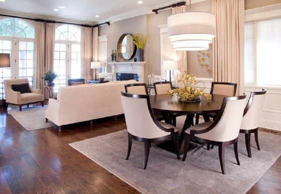 defined dining living room arrangement