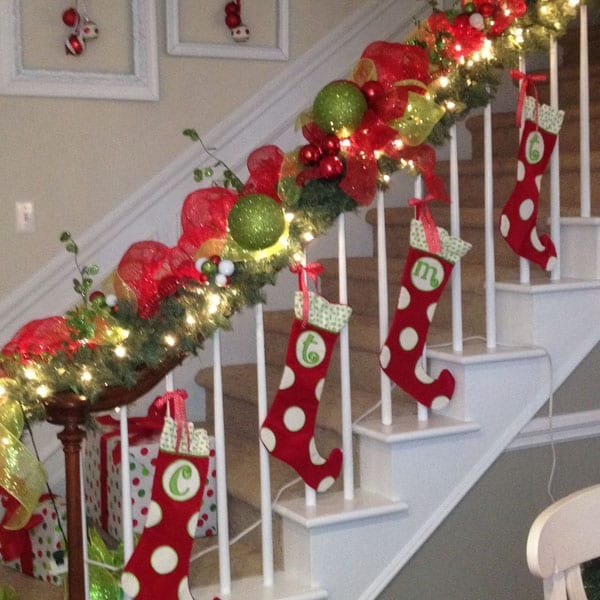 railing decoration christmas